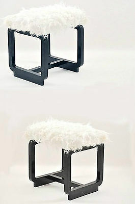 Pair of Modernist Stools- Tabourets modernistes-Art Deco