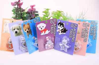 Wholesale Closeout Lot 25 Tags LED Flashing ID Tag Dog Puppy,Cat