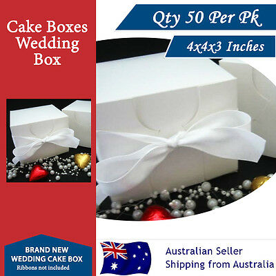 CAKE BOXES CUPCAKE BOXES 4x4x3 Inches 50 Per Pack Cake Boards Wedding Box