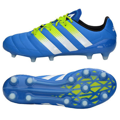e20be7d0486a ADIDAS ACE 16.1 FG   AG Leather Soccer Cleats Boots AF5098 Shock Blue  210  +bag