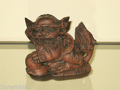 Wächterlöwe, Fo-Hund, Holz, China, ca. 1900 / Wooden Guardian Lion Shi Foo Dog