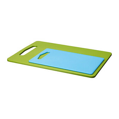 IKEA LEGITIM Set of 2 Polyethylene Plastic Green & Blue Chopping Board