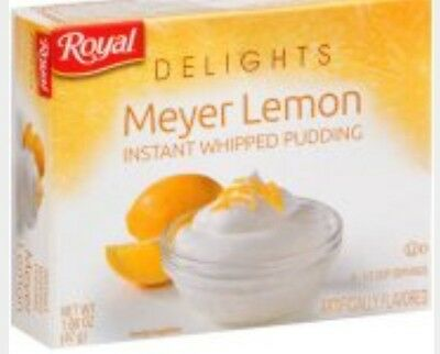Royal Delights instant pudding meyer lemon 2 boxes