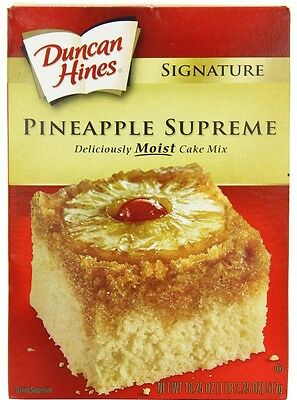 Duncan Hines  signature pineapple supreme cake mix