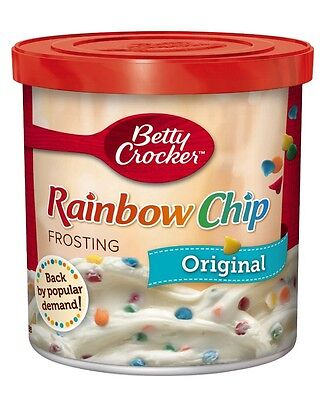 Betty Crocker rainbow chip rich and creamy frosting 16 oz tub