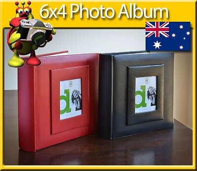 6x4  Photo Album holds up to 200 Photos - Viper Red or Black