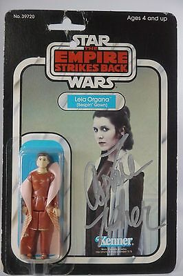 1980 Star Wars Princess Leia Bespin Gown MOC Kenner CARRIE FISHER SIGNED JSA COA