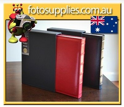 6x4 Photo Album Boxed holds up to 300 Photos - Regal Red or Black