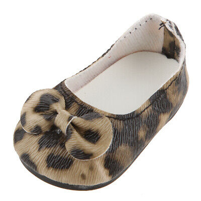 Cute Leopar Print Party Shoes Fits 18Inch American Girl Journey Doll Clothes