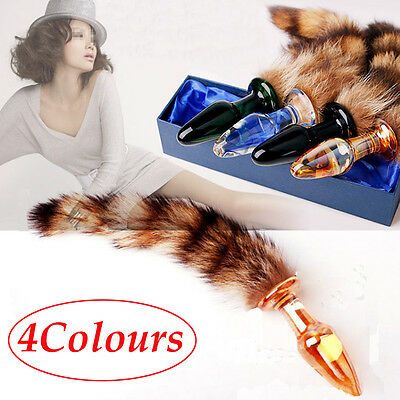 HOT Love Faux Fox Tail Butt Anal Plug Sexy Romance Sex Funny Adult Sex Game Toys