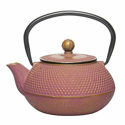 Benzer - Orient Express Zen Cast Iron Tea Pot Golden Pink 800ml