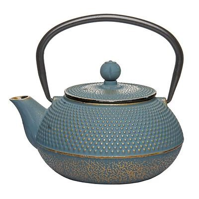 Benzer - Orient Express Zen Cast Iron Tea Pot Golden Blue 800ml