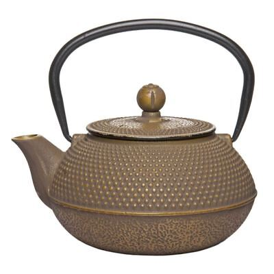 Benzer - Orient Express Zen Cast Iron Tea Pot Golden Grey 800ml