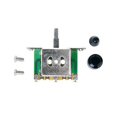3 Way Blade Switch w/ 2 Black Knobs For Fender Strat Electric Guitar