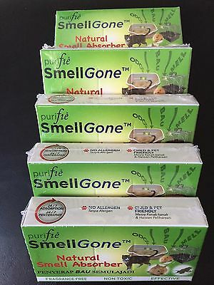 Smell Absorber: 5-pc natural smell absorber for cat litter trays,sml animal