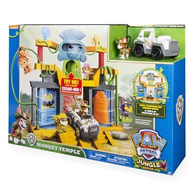 Paw Patrol Jungle Rescue - Monkey Temple Playset with Tracker