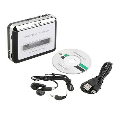 Tape to PC Super USB Cassette to MP3 Converter Capture Audio Music Player NEW F7