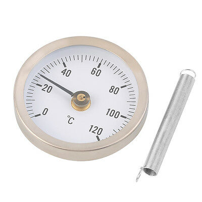 63mm Dial Metal Pipe Thermometer Clip on Temperature Gauge with Spring F7
