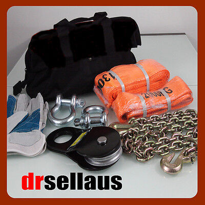 8 Piece 4Wd Winch Recovery Kit 4X4 Off Road