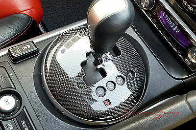 Real Glossy Carbon Fiber Gear Selector Panel Cover For Rhd Mazda Rx8 Mazdaspeed