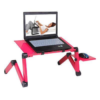 360° adjustable Foldable Laptop Notebook Desk Cooler Table Fan Stand Bed Tray