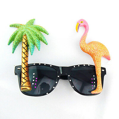 Hawaiian Flamingos Sunglasses Novelty Funny Party Shadding Glasses Costume New