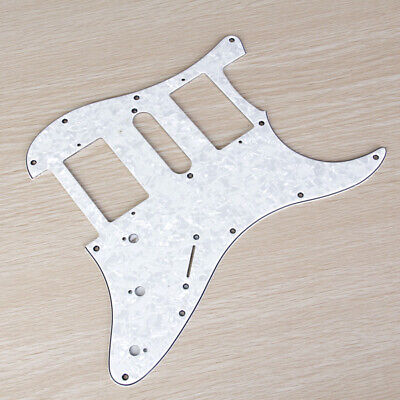 White 3ply Pickguard Scratch Plate Part for Fender Strat Stratocaster Guitar