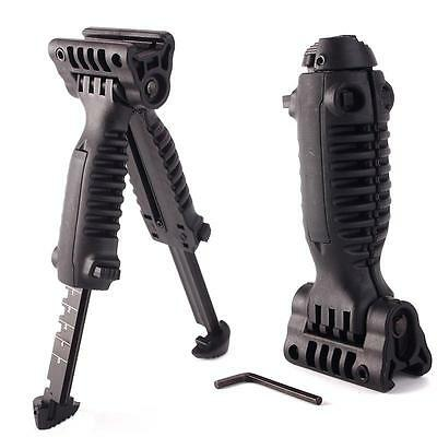 Pop New Tactical Vertical Fore Hand Grip Bipod Picatinny Rifle Weaver Adjustable