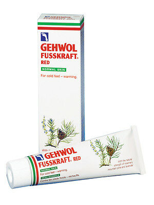 125ml Gehwol Fusskraft Red LIGHT Foot Cream. Warming Cold Chilblains Feet.