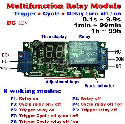 5v/12v/24v LED Infinite Cycle Delay Time Timer Control Relay ON OFF Switch
