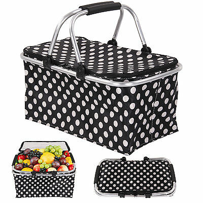 Large pliable picnic camping isotherme refroidisseur cool panier à zip sac