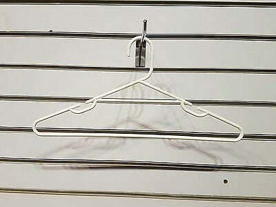 20pce White Clothes Hangers Commercial Pieces Lot Australian Seller Used