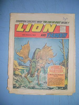 Lion issue dated March 25 1972