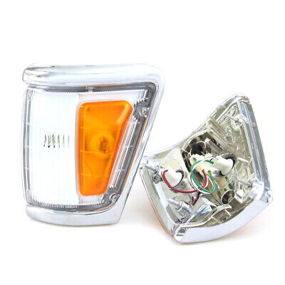 CHROME CORNER INDICATOR LIGHTS 1988-97 TOYOTA HILUX 4x4 LN111 LN106 LN107 RN105