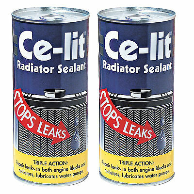 2 x Ce Lit Car Radiator Rad Engine Block Cooling System Stop Leak Weld Sealant