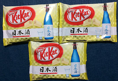 3 bag Sake KitKat / Kit Kat - Nestle Japan - Nihonshu Japanese Easter Chocolate