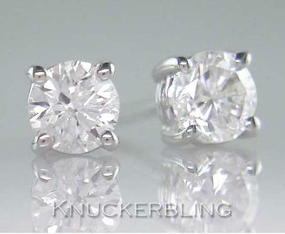 0.40ct Brilliant Cut Diamond Solitaire and 18ct White Gold Stud Earrings
