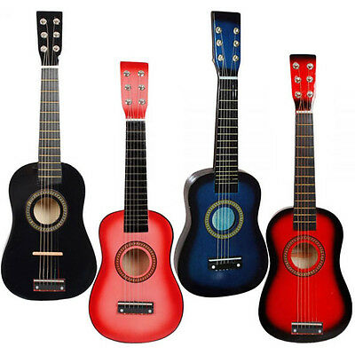 "23"" Hand Made Wooden Acoustic Guitar with Metal Strings Musical Instrument Kids"