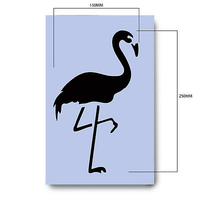 Flamingo Stencil Bird 297 x 189mm Sign Tiki Flamant Re-Usable Airbrush Craft 045