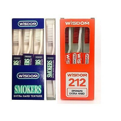 Wisdom Extra hard Toothbrush Tooth Brush White/Red colour