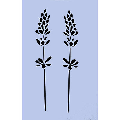 Lavender Stencil Flowers 297x189mm Sign Re-Usable Airbrush Spray Wall Craft 022