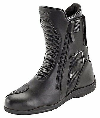 Joe Rocket Mens Nova Motorcycle Riding Boots Black/Carbon FREE SHIPPING!