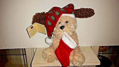 "NWT Chantilly Lane Musicals 10"" Nutmeg Dog Sings ""Hark the Herald Angels Sing"""