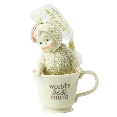SNOWBABIES World's Best Mum Hanging Ornament  Gift Boxed #4051900UK  NEW 2016