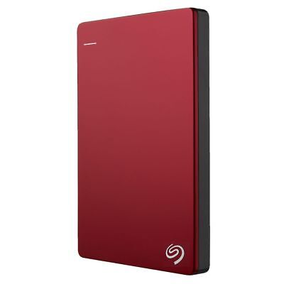 NEW Seagate Hard Drive 2TB Backup Plus Slim External Hard Drive Portable Red HDD