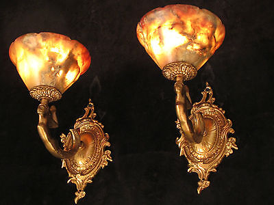 wall lights  American fixture  MERMAID SCULPTURES ART DECO real alabasters
