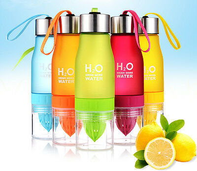 Best Fruit Infuser Infusing Sport Cycle Detox Slimming Water Bottle Drinking BPA