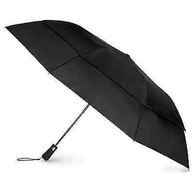 $45 Totes Golf Automatic Open Close Black Vented Canopy Auto Umbrella Rain Storm