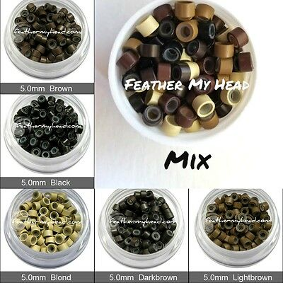 Silicone Micro Links / Tubes / Shrinkies / Feather Hair Extenisons Beads