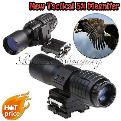 5X Magnifier Scopes FTS To Side Tactical Mount Hunting For Eotech Aimpoint NEW